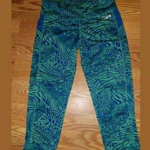 Aeropostale Animal Print Yoga Capri Pants